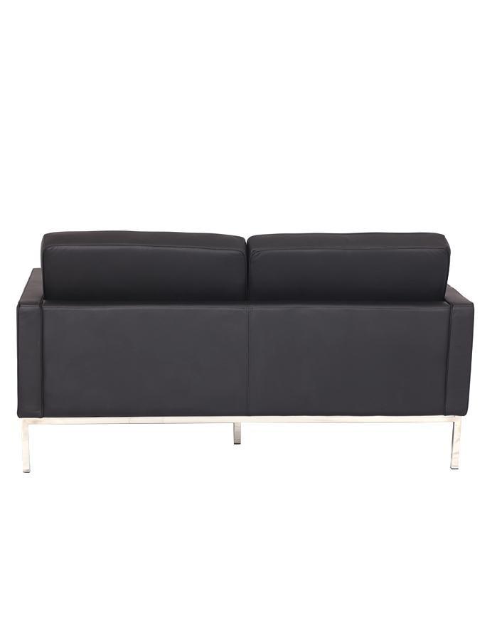 Replica Florence Knoll 2 Seater Sofa – Black Leather [Zuca] Within Florence Knoll Leather Sofas (View 8 of 15)