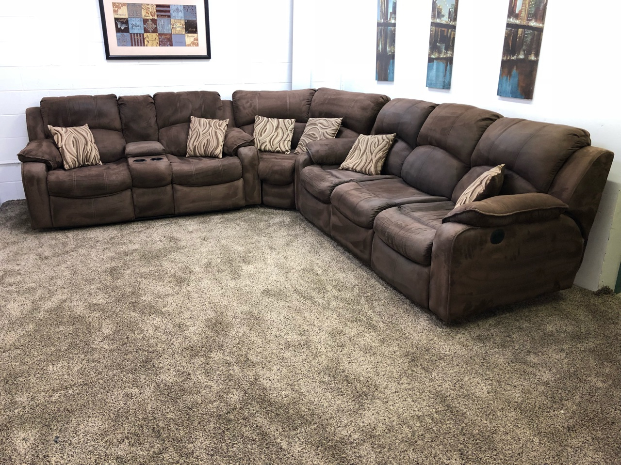 (Reserved) #1260 3 Piece Dark Brown Microfiber Power In Raven Power Reclining Sofas (View 6 of 15)