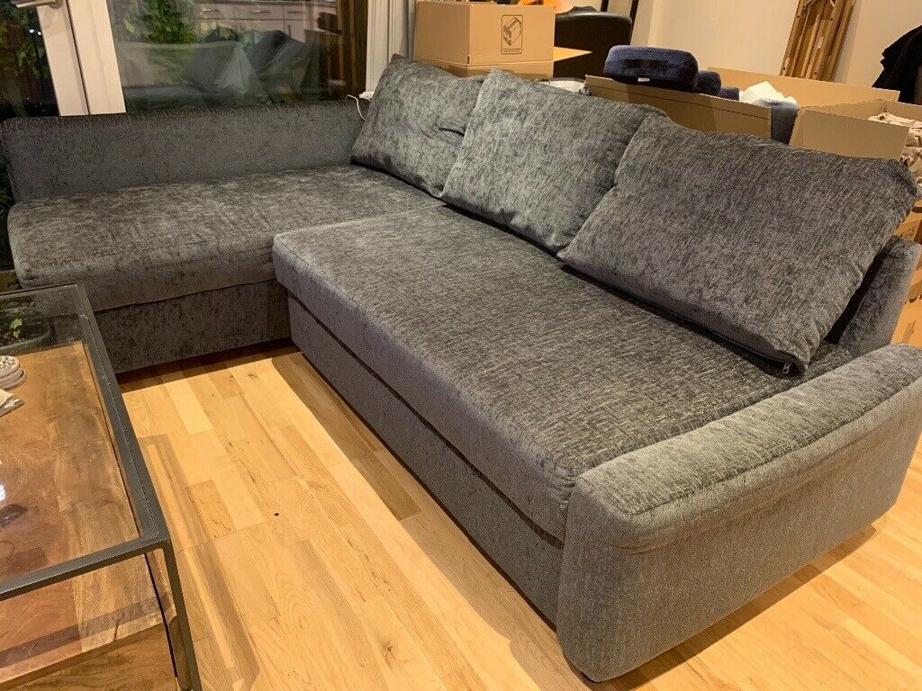 Reserved Grey Ikea Corner Sofa Bed With Storage   In For Ikea Corner Sofas With Storage (View 13 of 15)