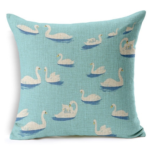 Retro Fresh Hand Painted Magnolia Linen Cotton Cushion For Magnolia Sectional Sofas With Pillows (View 3 of 15)