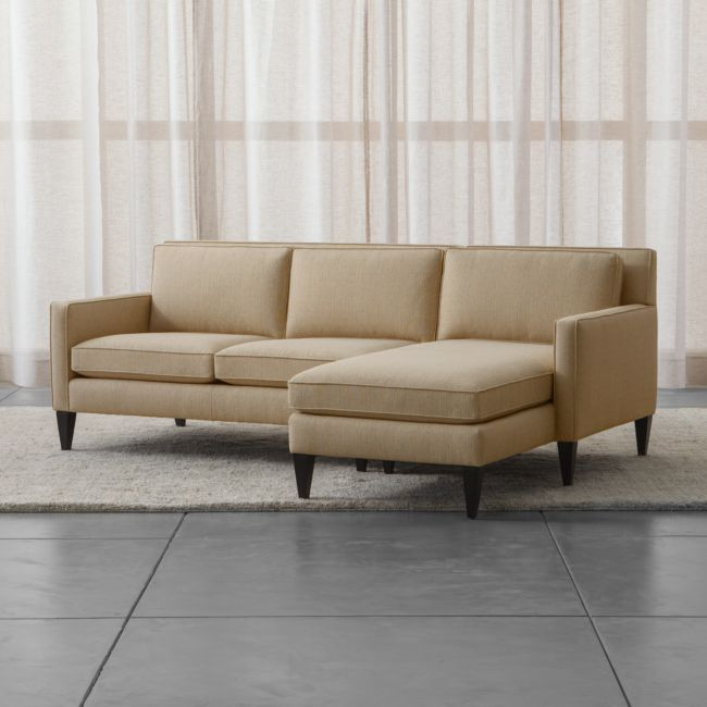 Rochelle 2 Piece Right Arm Chaise Midcentury Modern For 2Pc Burland Contemporary Chaise Sectional Sofas (View 12 of 15)