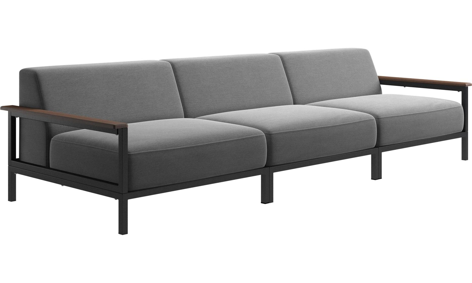 Rome Outdoor Sofa, Light Grey Outdoor Fabric – Goodglance Regarding Outdoor Sofas And Chairs (View 1 of 15)