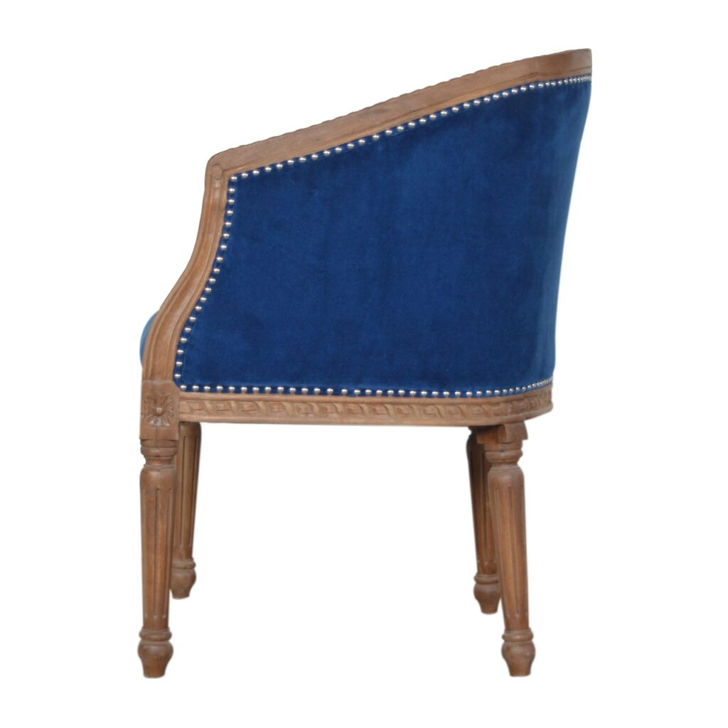 Royal Blue Velvet Occasional Chair – Artisan Furniture With Artisan Blue Sofas (View 8 of 15)