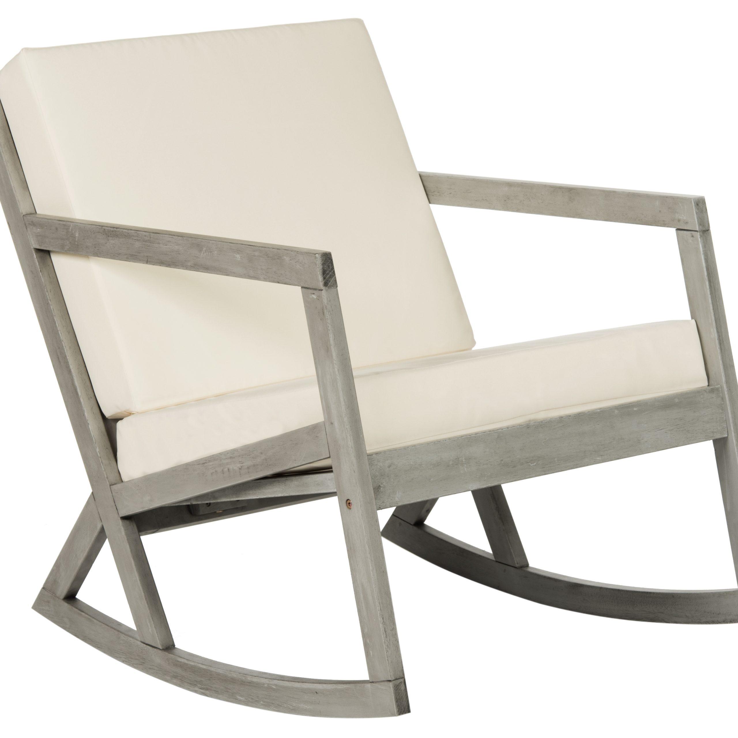 Safavieh Vernon Indoor/Outdoor Modern Rocking Chair With Regarding Rocking Sofa Chairs (View 10 of 15)