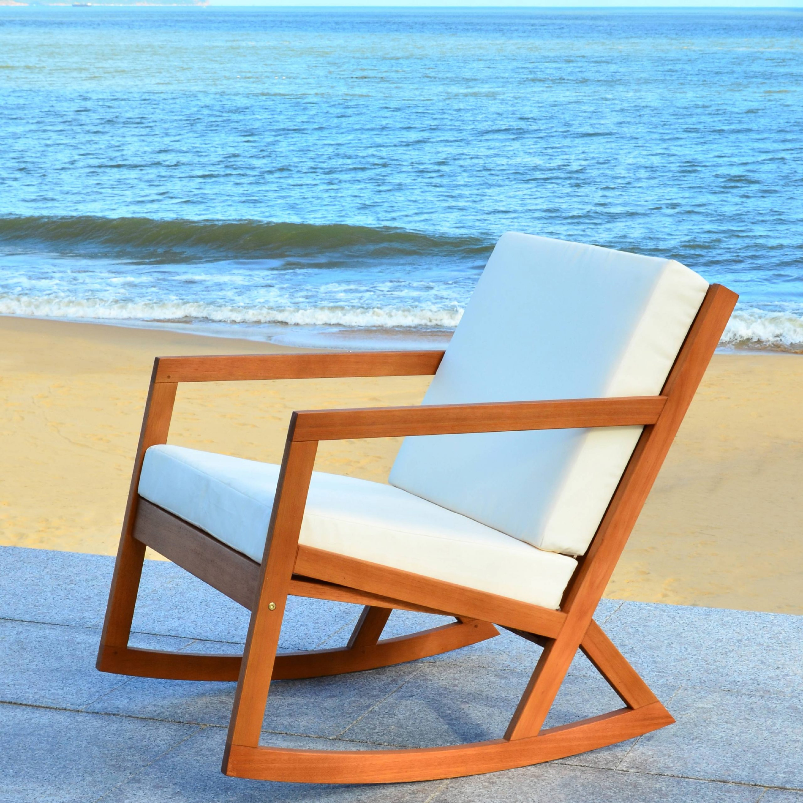 Safavieh Vernon Indoor/Outdoor Modern Rocking Chair With With Rocking Sofa Chairs (View 1 of 15)