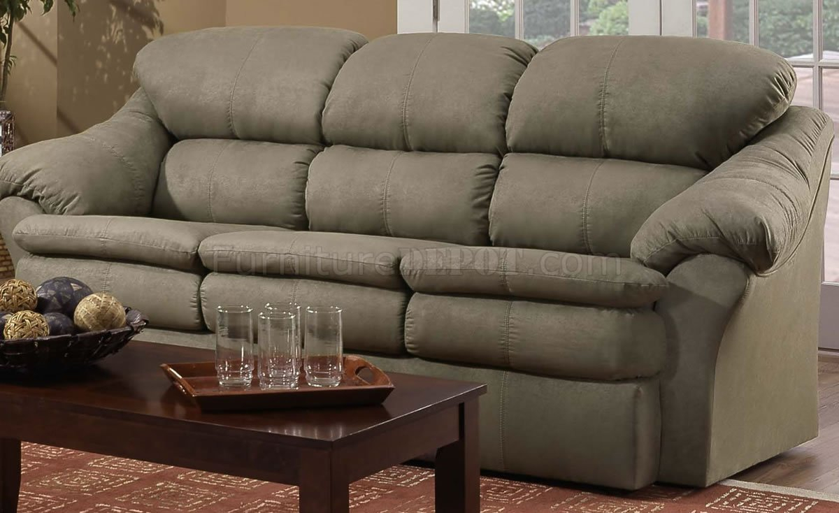 Sage Microfiber Modern Casual Sofa & Loveseat Set W/Wooden Pertaining To Lounge Sofas And Chairs (View 14 of 15)