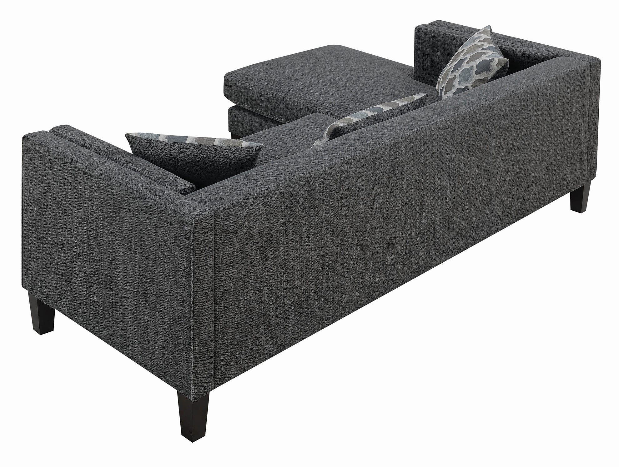Sawyer Contemporary Dusty Blue Sectional | Quality Pertaining To Brayson Chaise Sectional Sofas Dusty Blue (View 10 of 15)