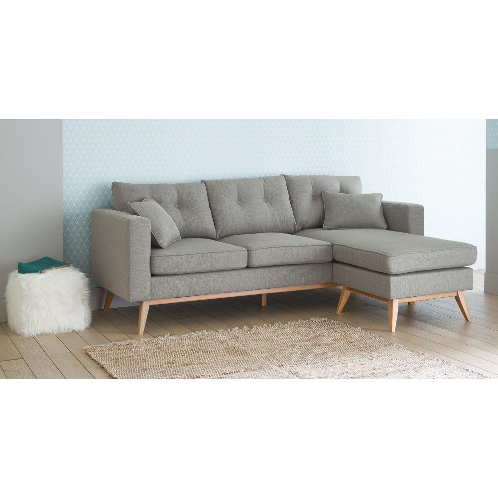 Scandinavian 4/5 Seater Light Grey Modular Corner Sofa Regarding Modular Corner Sofas (View 14 of 15)
