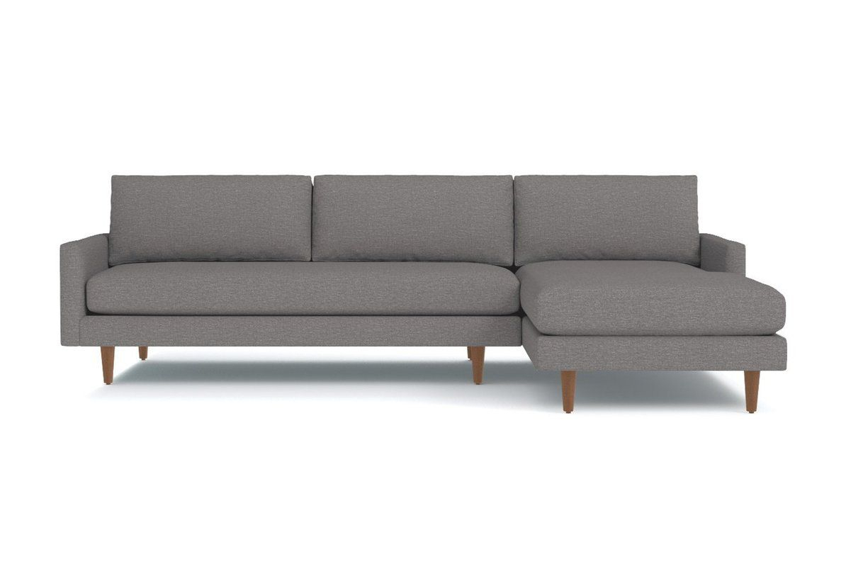 Scott 2Pc Sectional Sofa :: Leg Finish: Pecan Inside 2Pc Burland Contemporary Chaise Sectional Sofas (View 14 of 15)