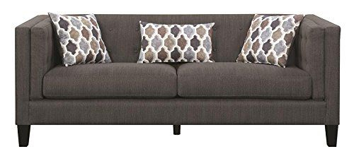 Scott Living Sawyer Fabric Stationary Sofa With Accent Regarding Brayson Chaise Sectional Sofas Dusty Blue (View 2 of 15)