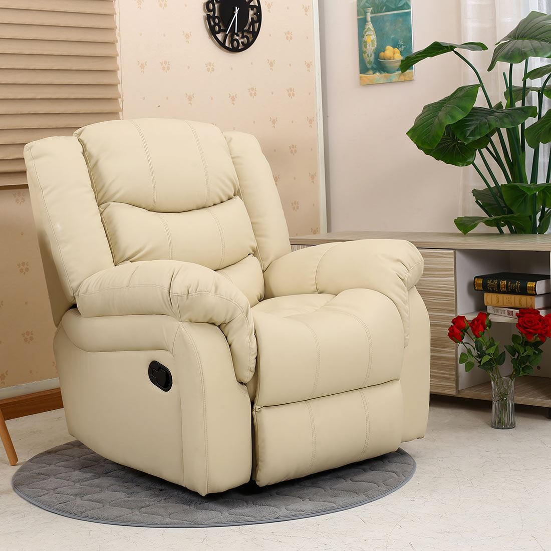 Seattle Leather Recliner Armchair Sofa Home Lounge Chair In Gaming Sofa Chairs (View 6 of 15)