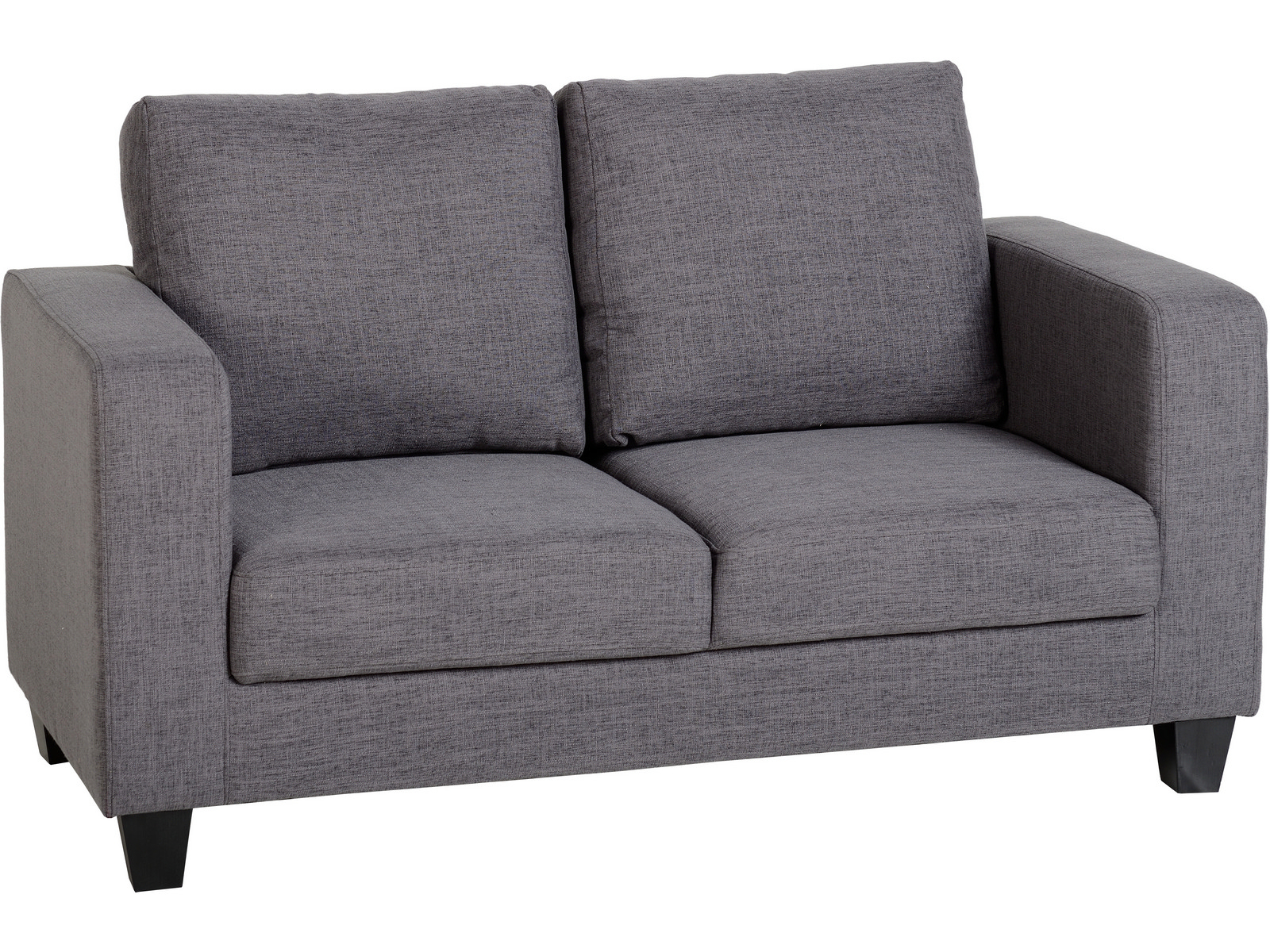 Seconique Tempo 2 Seater Sofa In A Box – Grey Fabric Regarding Two Seater Sofas (View 15 of 15)