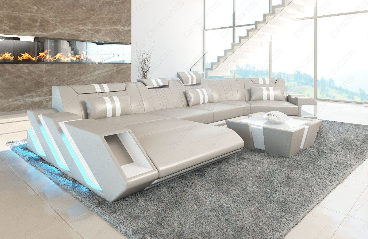 Sectional Sofa Genuine Leather New Jersey C Shape Within C Shaped Sofas (View 2 of 15)