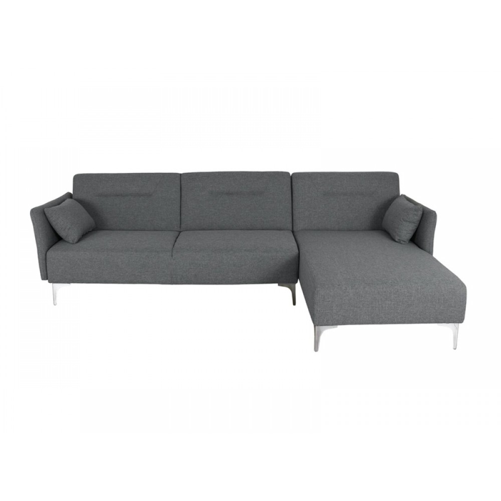 Sectional Sofa,Sofa Bed,Right Side Facing Chaise,Linen Inside Polyfiber Linen Fabric Sectional Sofas Dark Gray (View 11 of 15)
