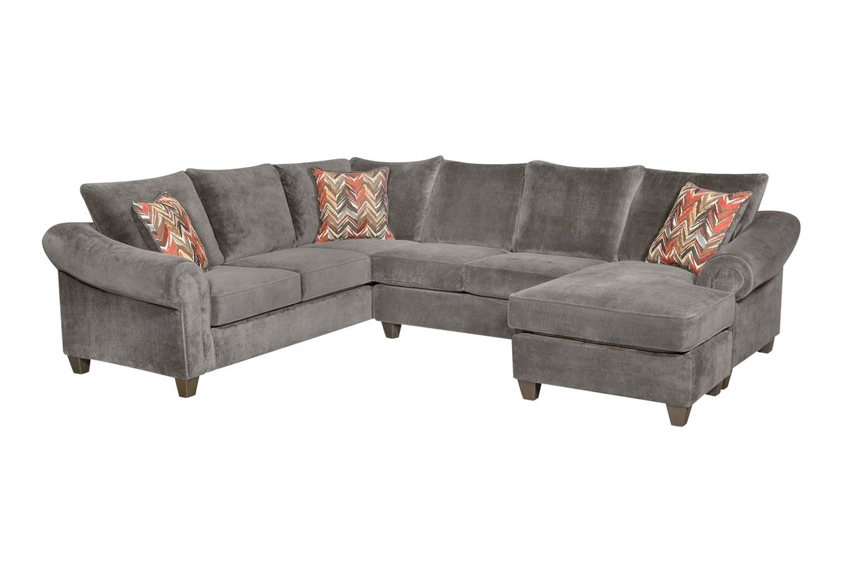 Sedona Right Arm Facing Sectional At Gardner White In Dulce Right Sectional Sofas Twill Stone (View 13 of 15)