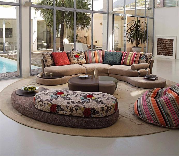 Semi Circular Sofa, Formentera – Roche Bobois – Luxury Regarding Circular Sofa Chairs (View 9 of 15)