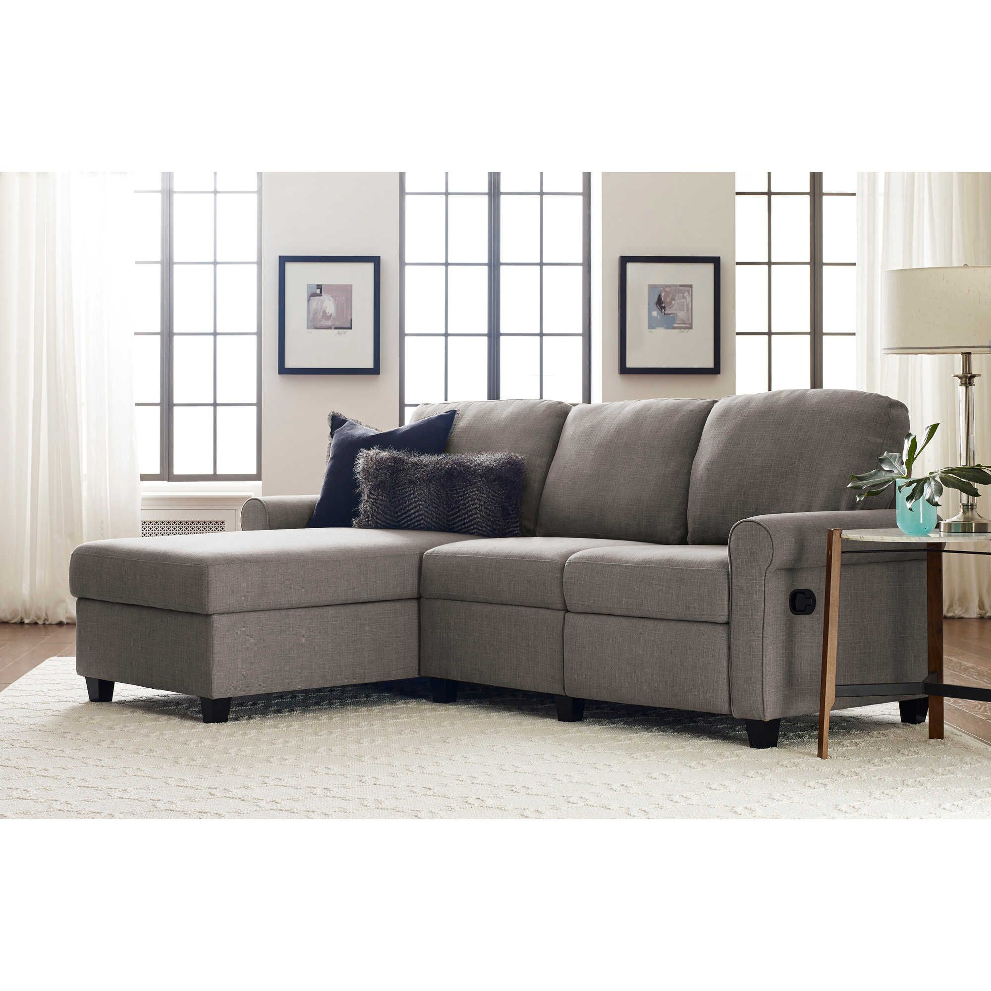 Serta® Copenhagen Reclining Sectional Sofa With Storage For Copenhagen Reclining Sectional Sofas With Right Storage Chaise (View 1 of 15)