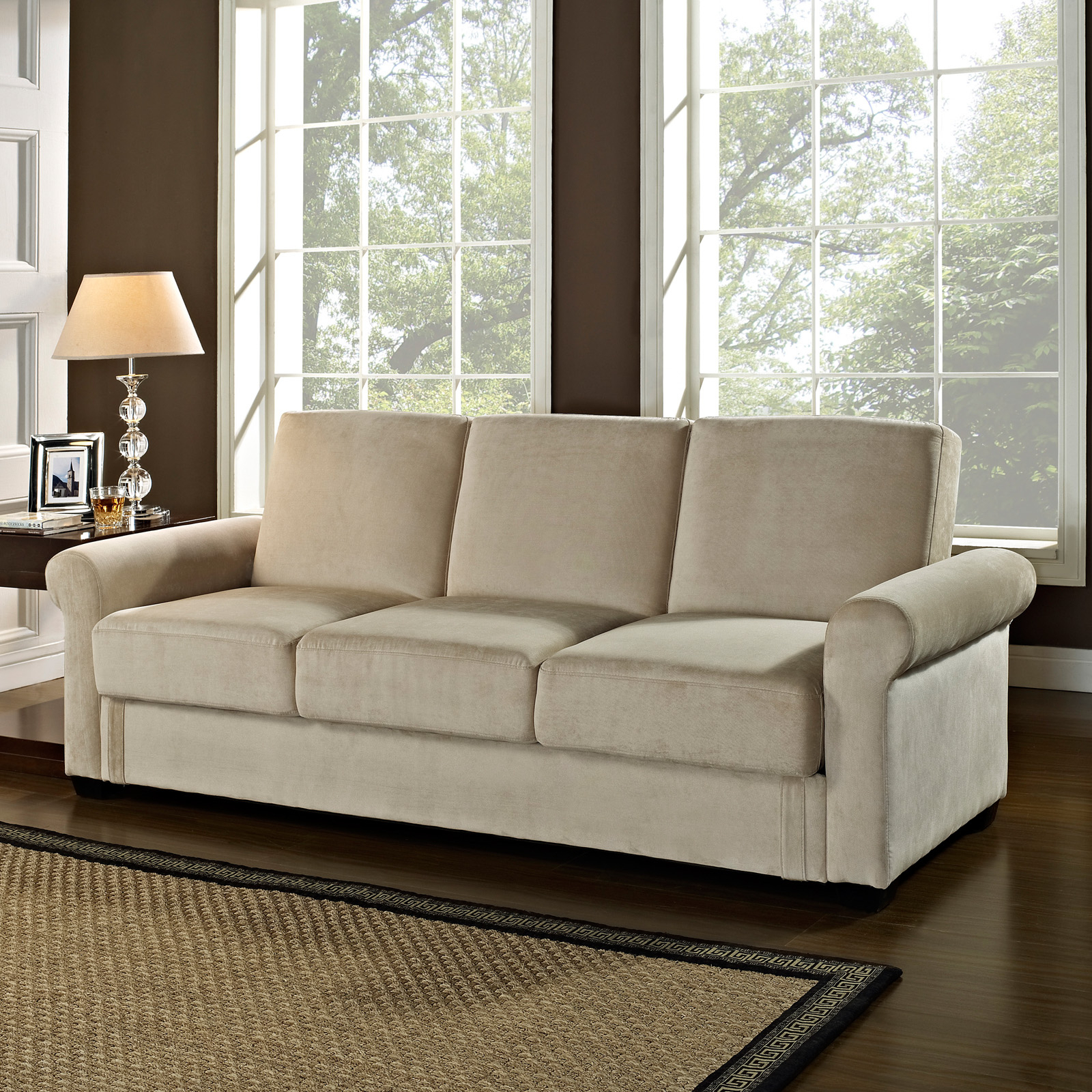Serta Dream Thomas Convertible Sofa – Light Brown – Sofas With Convertible Sectional Sofas (View 6 of 15)