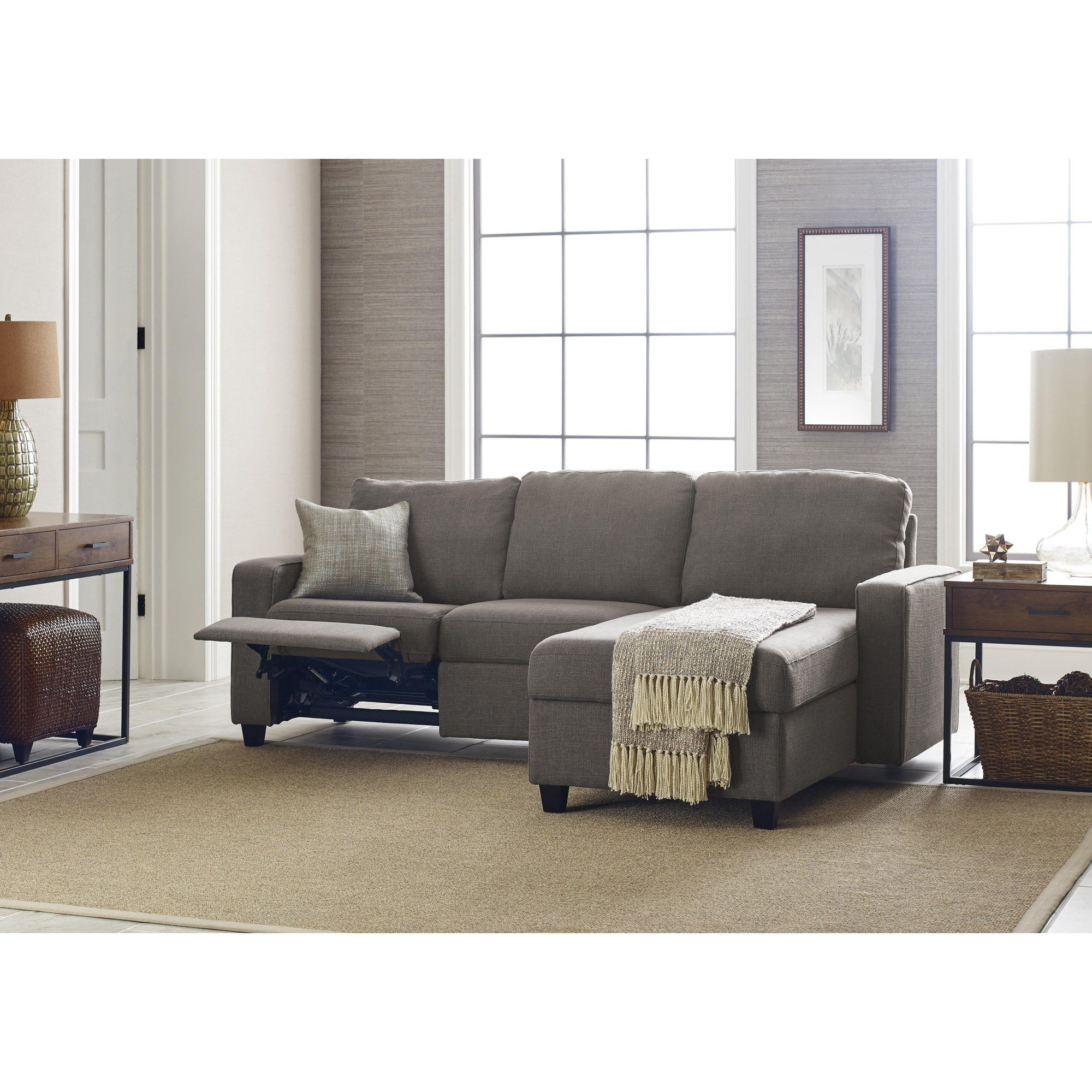 Serta Palisades Reclining Sectional With Right Storage Within Copenhagen Reclining Sectional Sofas With Right Storage Chaise (View 4 of 15)