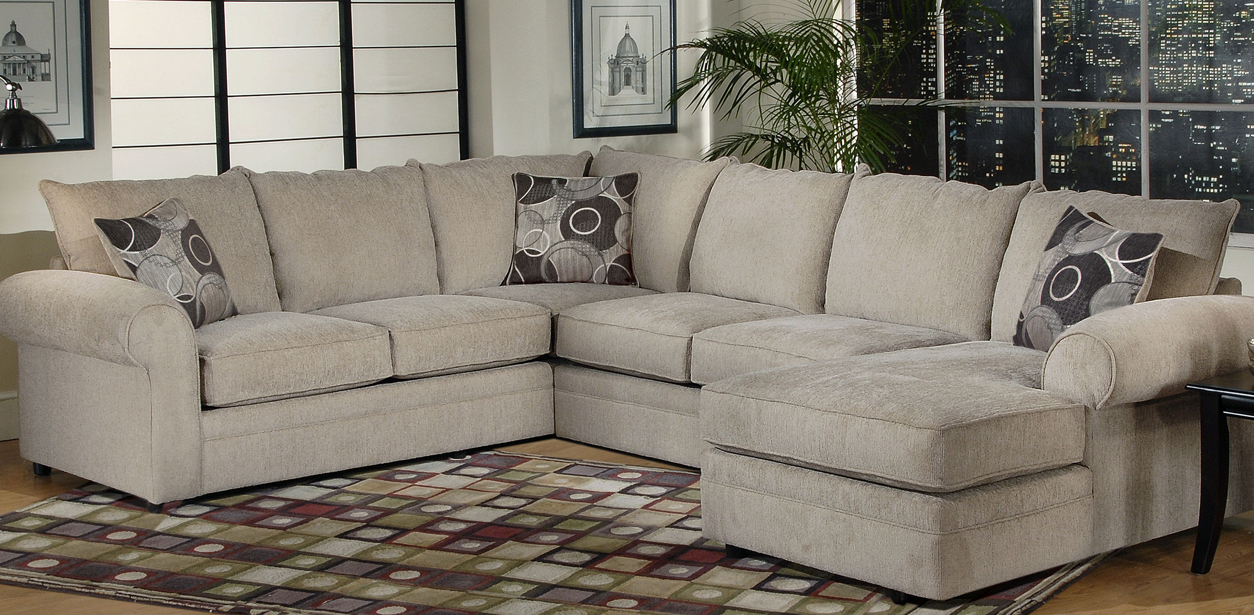 Serta Upholstery Sectionals: Ashas Spiritual Essence With Regard To Harmon Roll Arm Sectional Sofas (View 1 of 15)