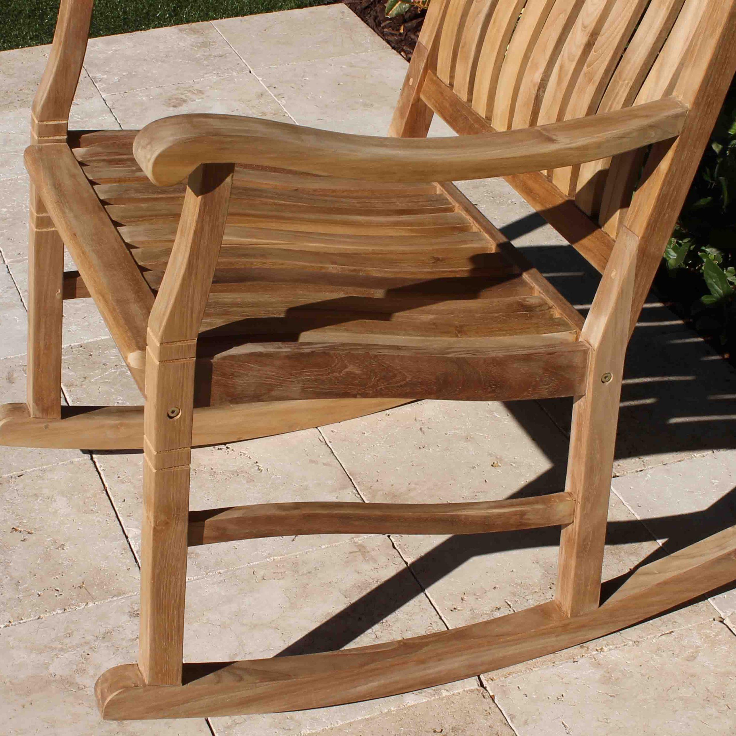 Set Of 2 Teak Rocking Chairs – Oceanic Teak Furniture In Rocking Sofa Chairs (View 5 of 15)