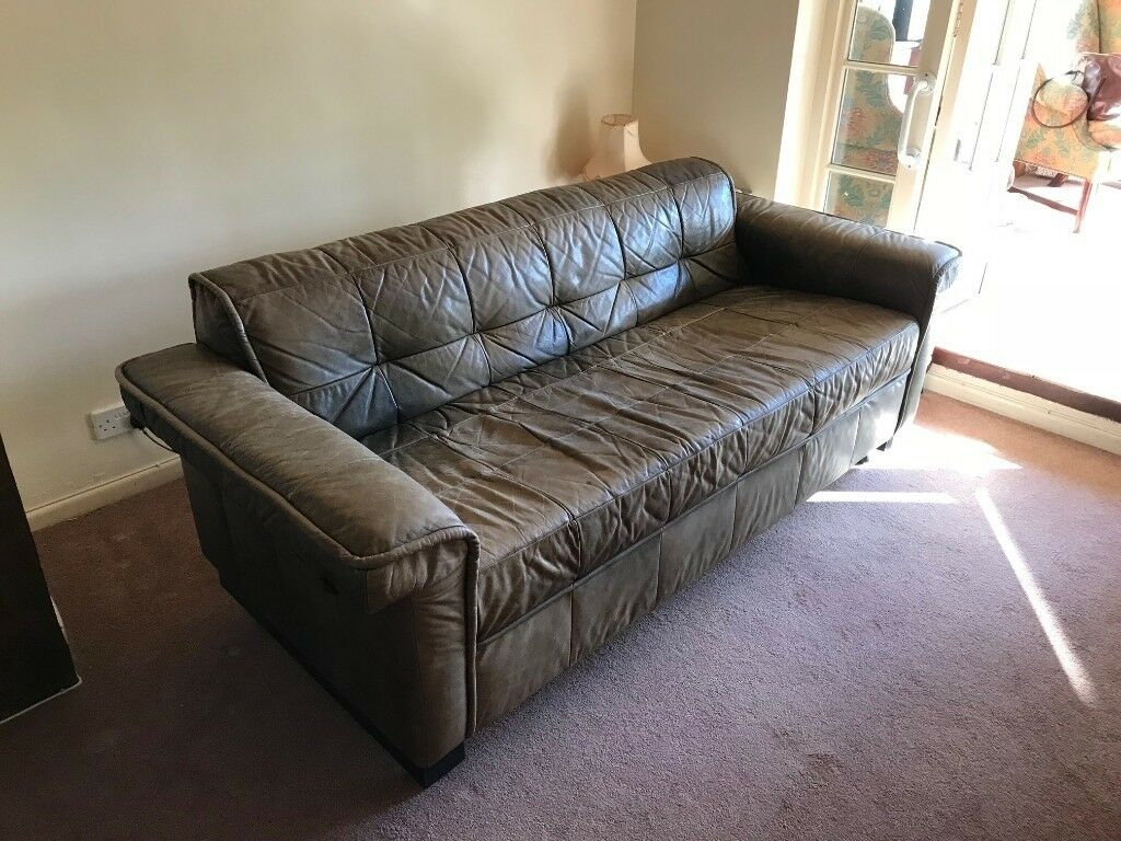 Shabby Chic Leather Sofa   In Bury St Edmunds, Suffolk With Shabby Chic Sofas (View 7 of 15)