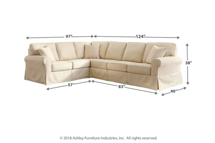 Shermyla 3 Piece Sectional   Ashley Furniture Homestore Pertaining To 3 Piece Sectional Sofa Slipcovers (View 7 of 15)