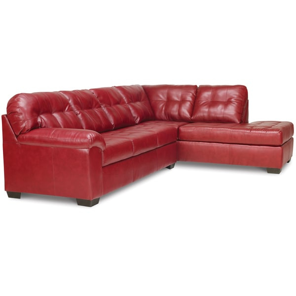 Shop Art Van Soho 2 Piece Sleeper Sectional In Red For Cromwell Modular Sectional Sofas (View 2 of 15)