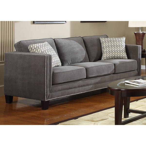 Shop Charcoal Grey Contemporary Sofa – Free Shipping Today For Ludovic Contemporary Sofas Light Gray (View 15 of 15)
