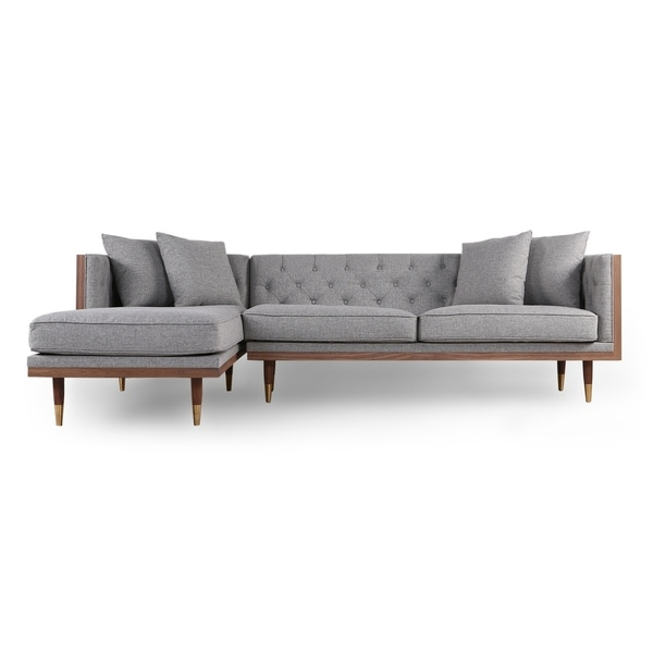 Shop Kardiel Woodrow Neo Mid Century Modern Sofa Sectional In Somerset Velvet Mid Century Modern Right Sectional Sofas (View 8 of 15)