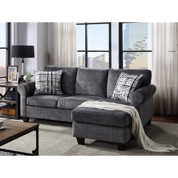Shop Merax Upholstered Modern Linen Fabric L Shape 3 Intended For Mireille Modern And Contemporary Fabric Upholstered Sectional Sofas (View 8 of 15)