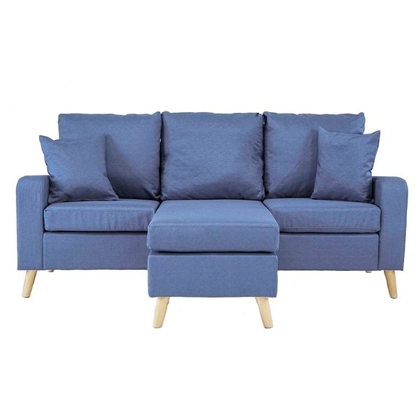 Shop Mid Century Style Small Space Reversible L Shape With Verona Mid Century Reversible Sectional Sofas (View 12 of 15)