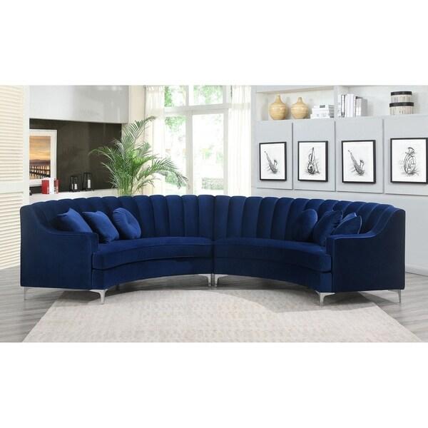 Shop Semi Circular Velvet Sectional Sofa – Overstock For Strummer Velvet Sectional Sofas (View 15 of 15)