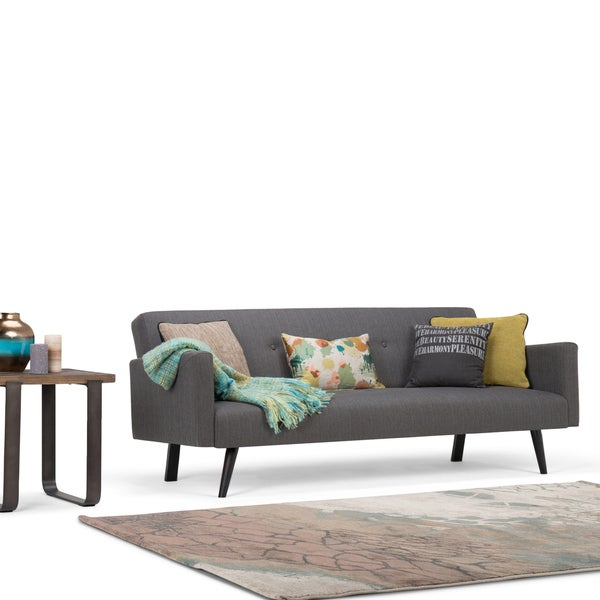 Shop Wyndenhall Trevor Transitional 77 Inch Wide Sofa Bed With Trevor Sofas (View 6 of 15)