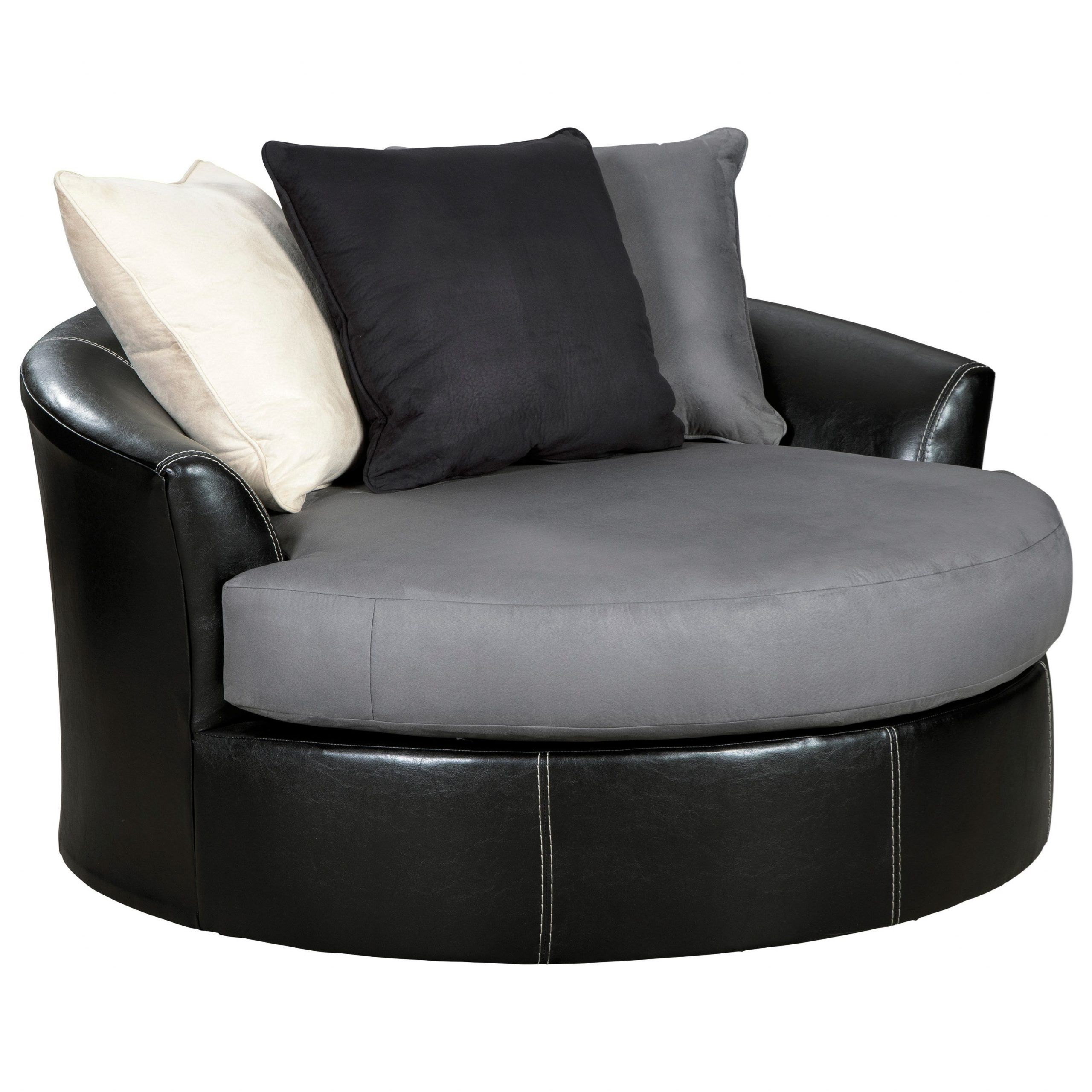 Signature Designashley Jacurso Contemporary Round Pertaining To Round Swivel Sofa Chairs (View 1 of 15)