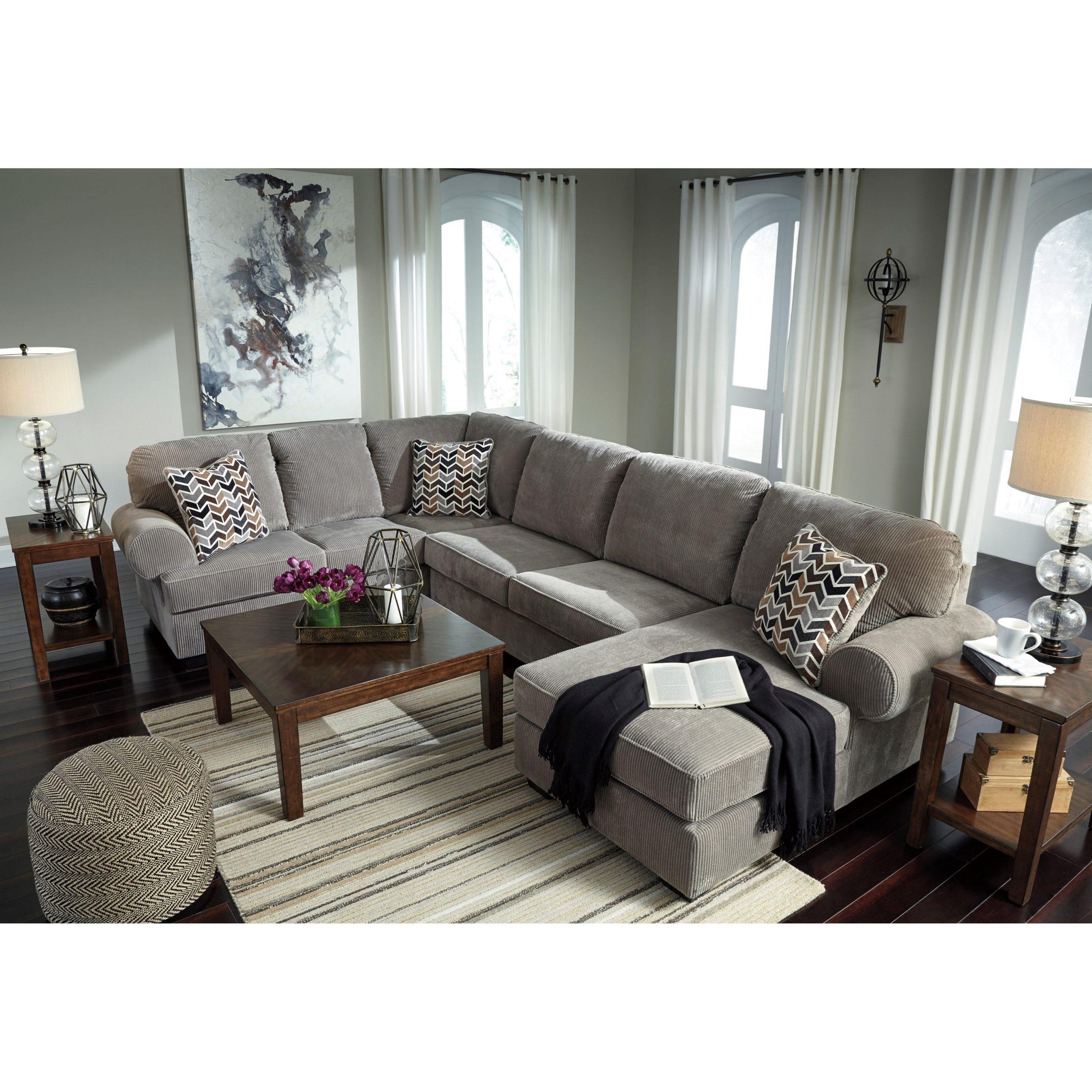 Signature Designashley Jinllingsly Contemporary 3 Regarding 3Pc Polyfiber Sectional Sofas (View 4 of 15)