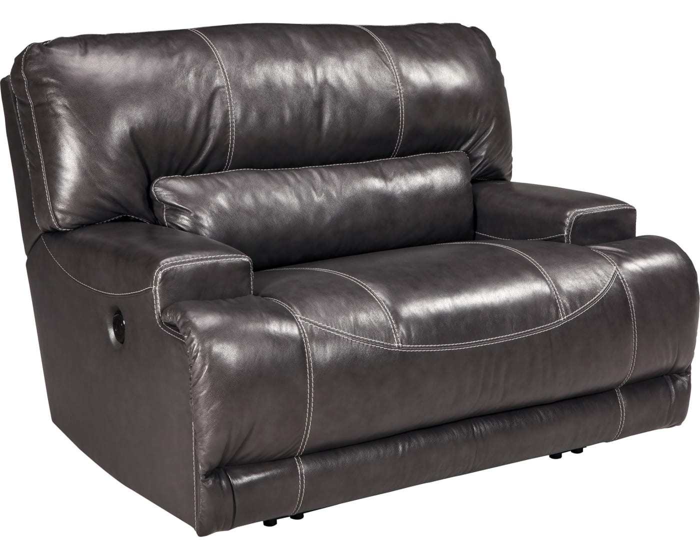 Signature Designashley Mccaskill Gray Wide Seat Power In Walker Gray Power Reclining Sofas (View 2 of 15)