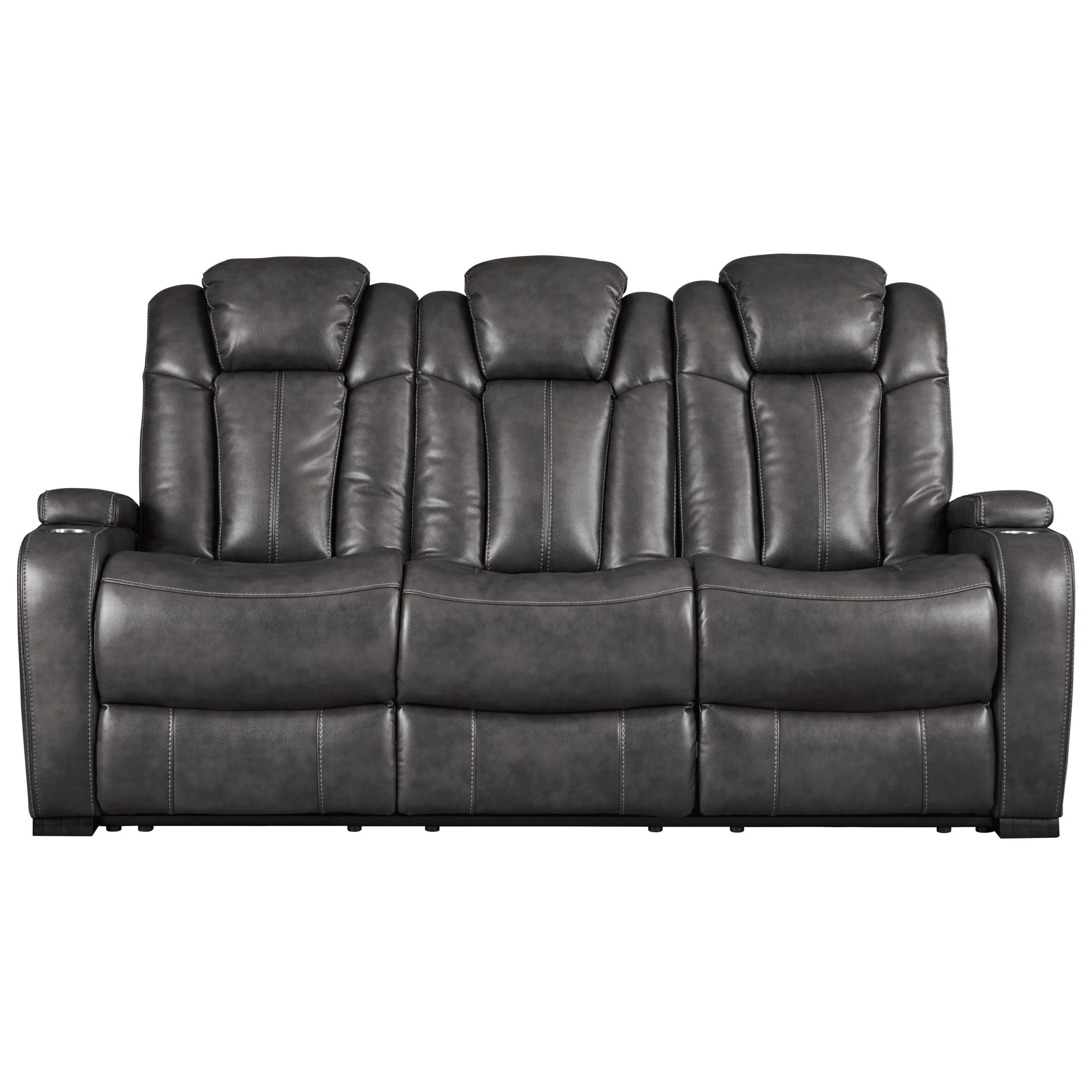 Signature Designashley Turbulance Contemporary Faux Intended For Power Reclining Sofas (View 1 of 15)