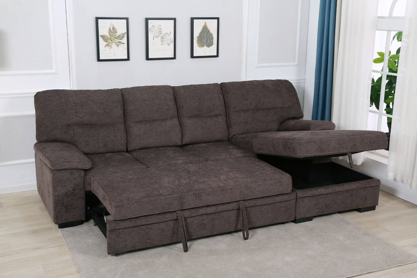 Silvio Sectional Sofa/ Sofa Bed With Storage Ifurniture Regarding Live It Cozy Sectional Sofa Beds With Storage (View 5 of 15)