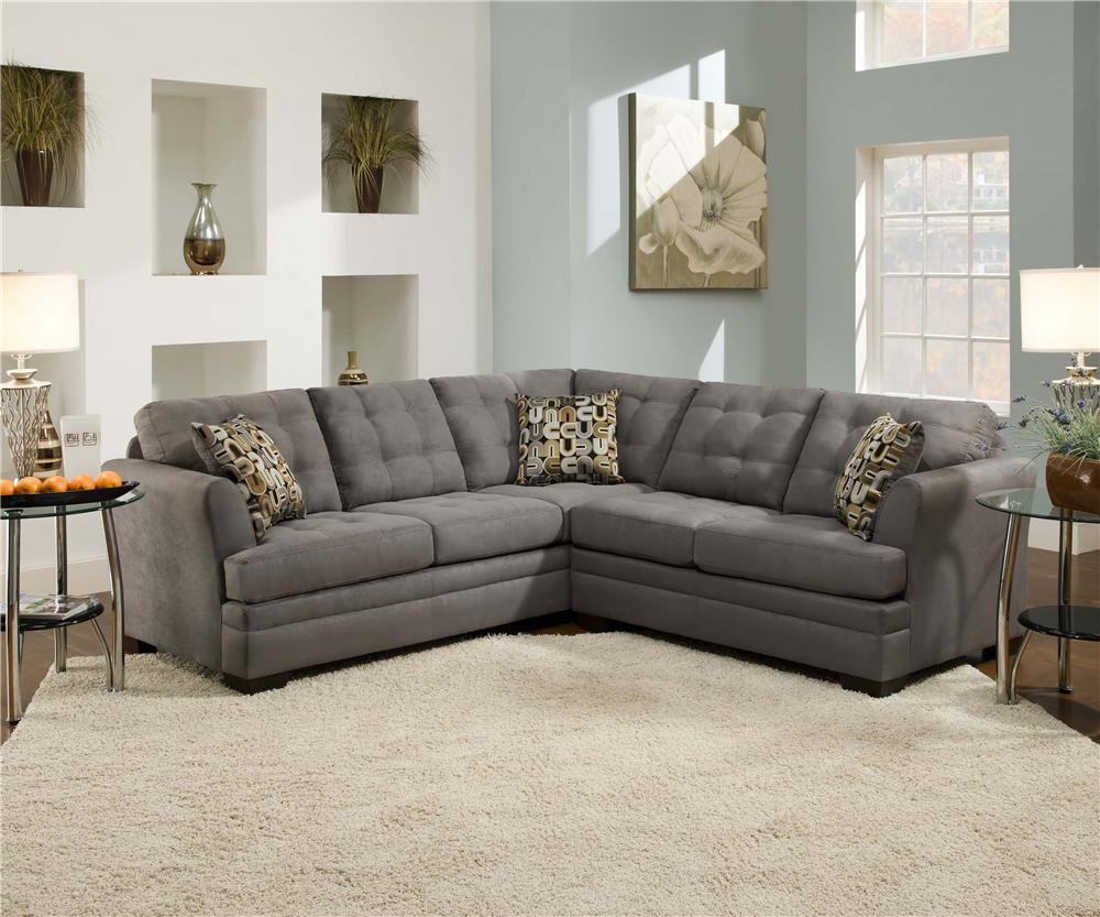 Simmons Sectional Sofas Simmons 8530Br Sectional Sofa Inside 2Pc Luxurious And Plush Corduroy Sectional Sofas Brown (View 2 of 15)