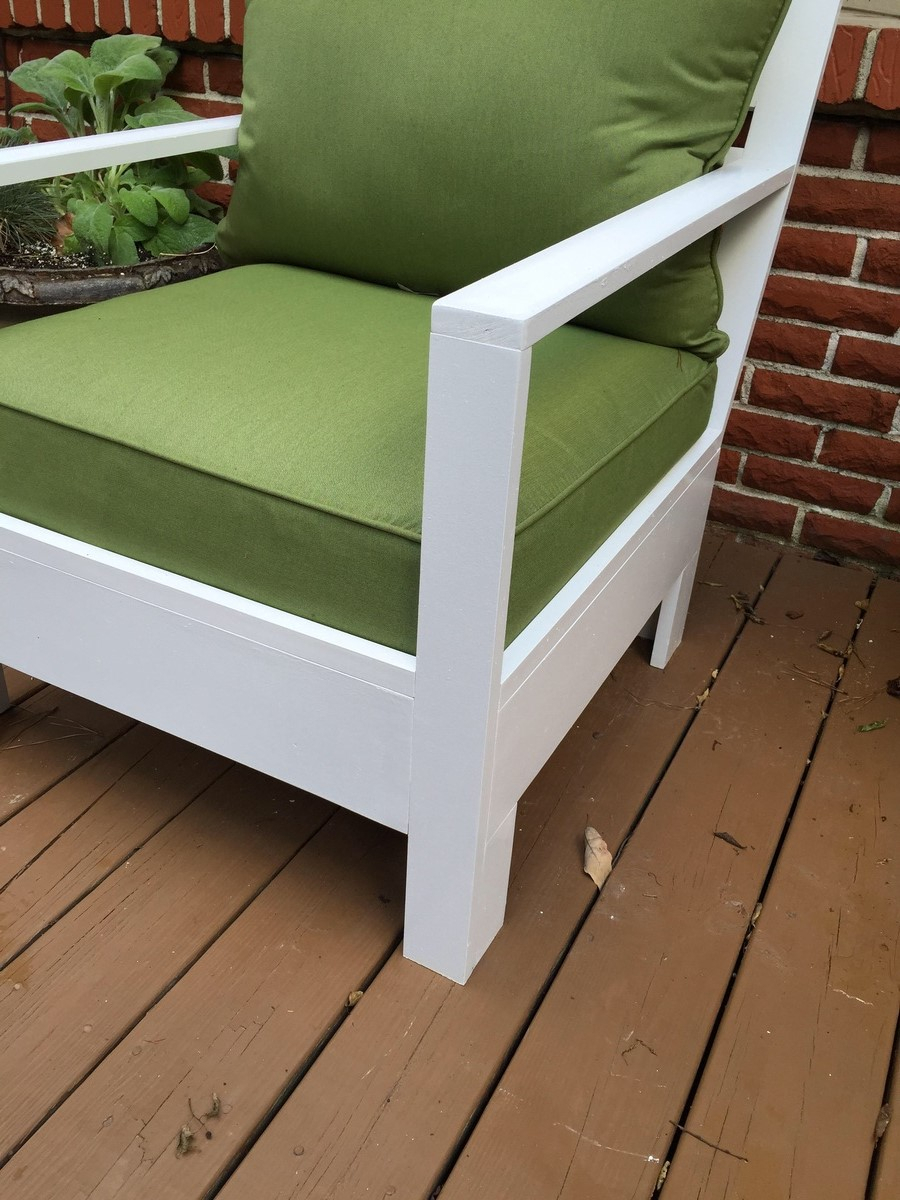 Simple Outdoor Sofa And Chairs | Ana White With Regard To Outdoor Sofas And Chairs (View 12 of 15)