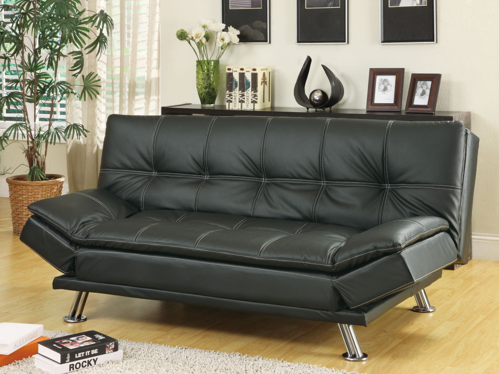 Simple Review About Living Room Furniture: Sleeper Sofas Regarding Easton Small Space Sectional Futon Sofas (View 7 of 15)