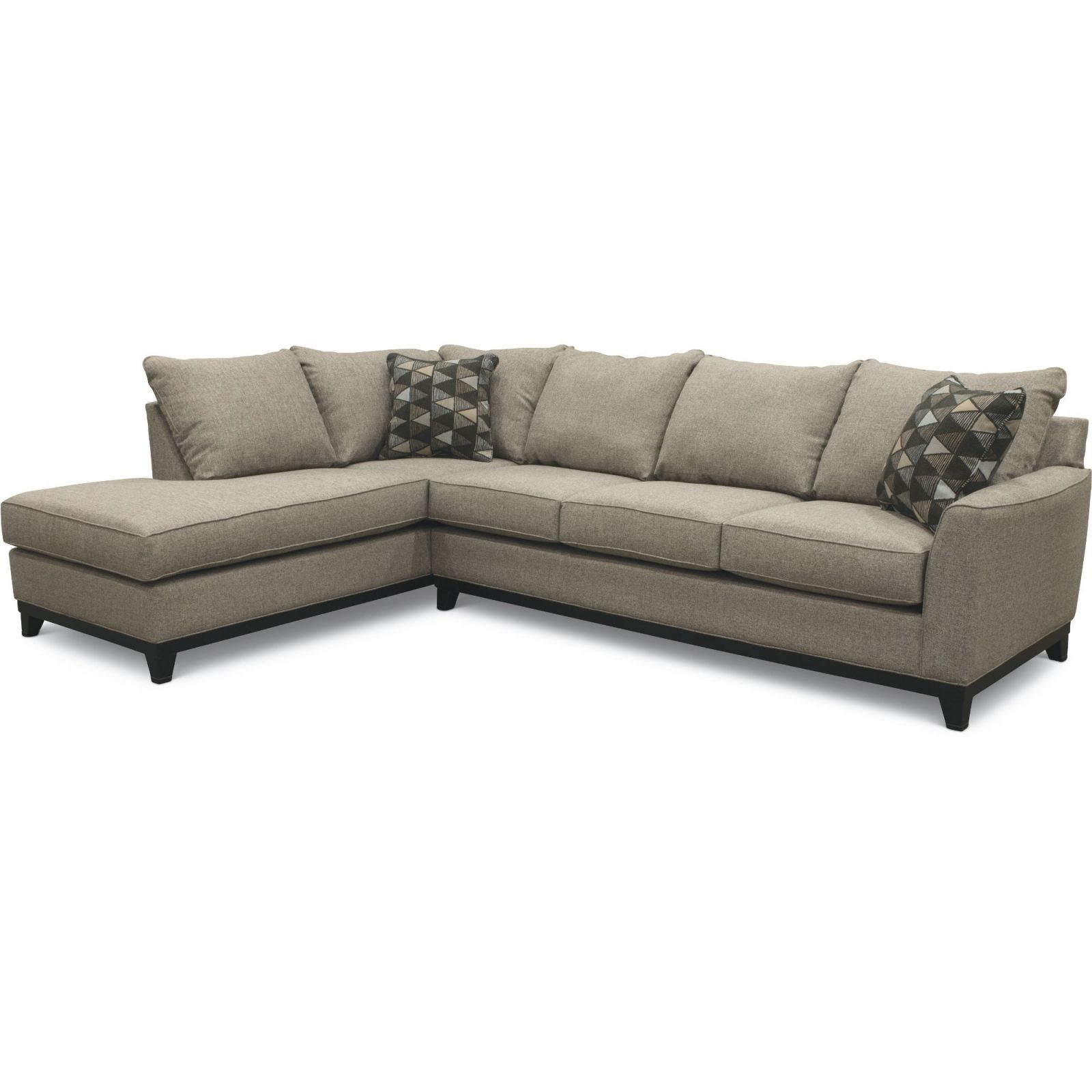 Slate Gray 2 Piece Sectional Sofa With Laf Chaise Intended For Elegant Sectional Sofas (View 14 of 15)
