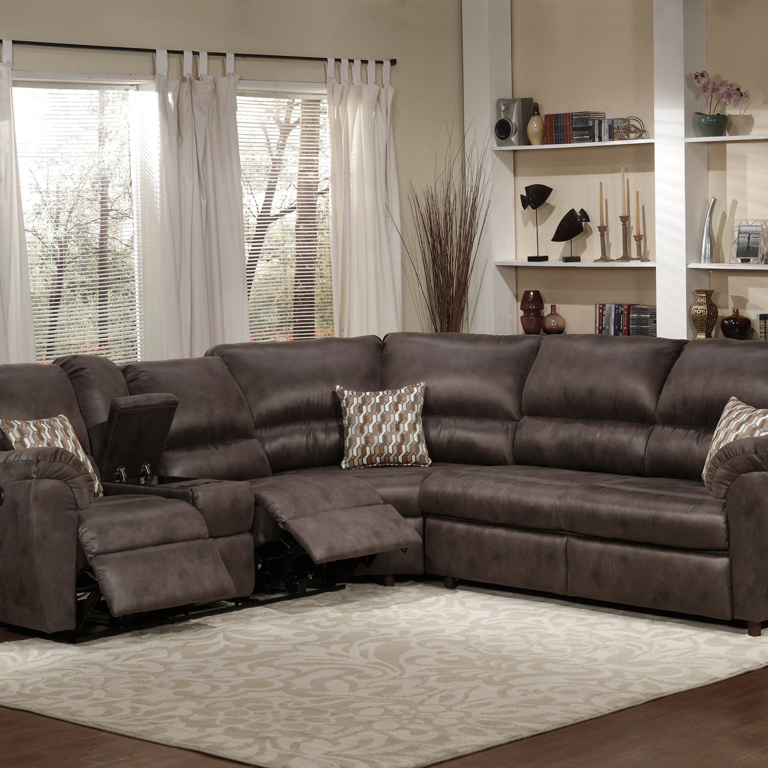 Sleeper Sectional   Instylefurniture Inc Within Felton Modern Style Pullout Sleeper Sofas Black (View 15 of 15)