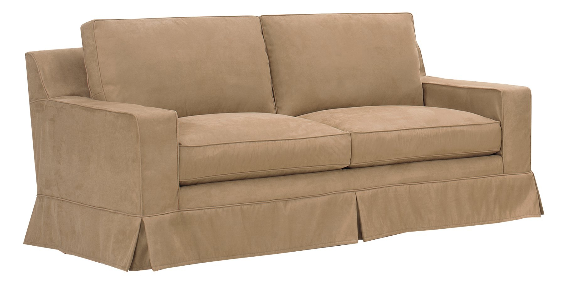 Slipcover Sleeper Sofa With Down Filled Couch Cushions In Down Filled Sofas (View 9 of 15)