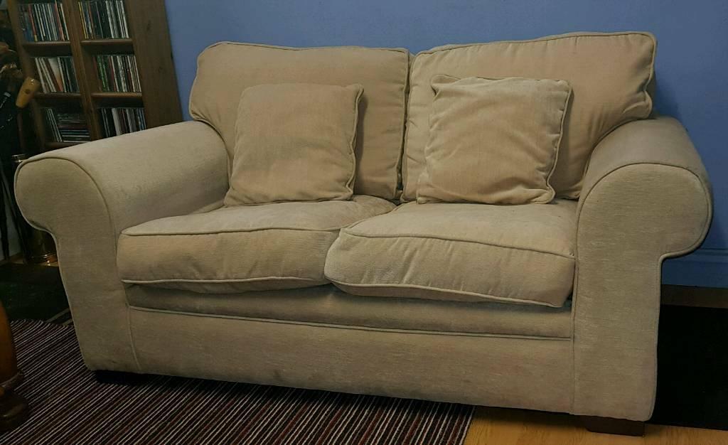 Small 2 Seater Sofa, Cream,   In Ballymena, County Antrim Throughout Small 2 Seater Sofas (View 9 of 15)