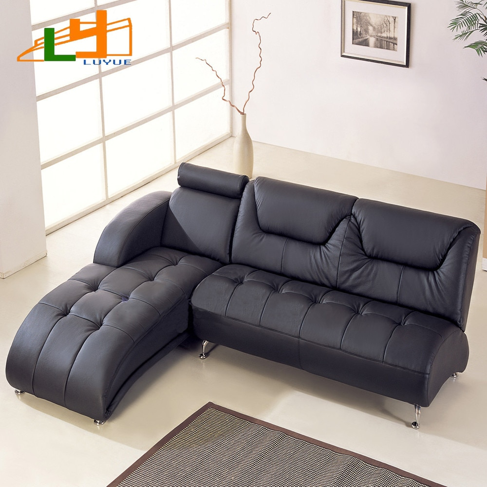 Small Apartment L Shaped Corner Sofa Leather Sofa Modern For Small Sofas And Chairs (View 7 of 15)