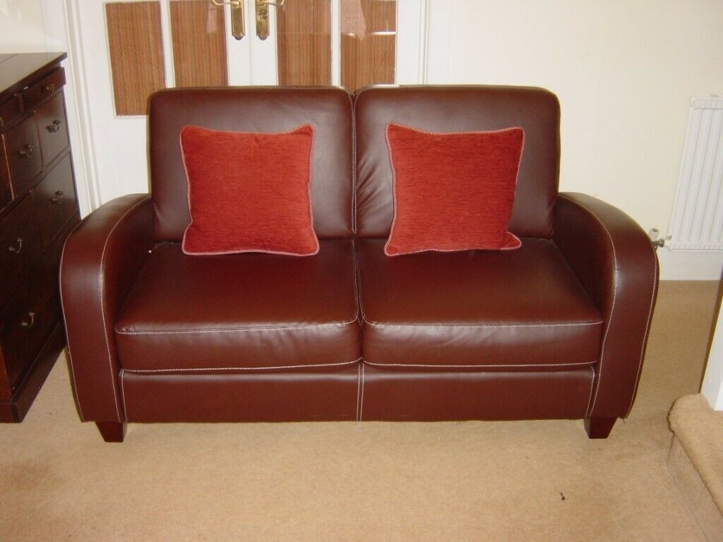Small Brown Leather Two Seater Sofa – Can Deliver   In With Small 2 Seater Sofas (View 8 of 15)