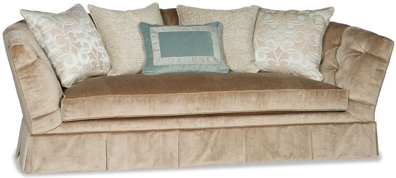 Sofa Covered In A Luxurious Cream Colored Fabric Within Cream Colored Sofas (View 15 of 15)