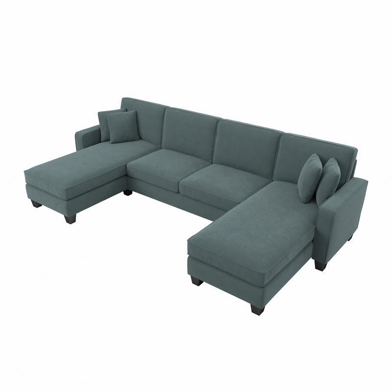 """Sofas And Sectionals Inside 130"""" Stockton Sectional Couches With Double Chaise Lounge Herringbone Fabric (View 4 of 15)"""